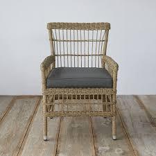 trellis weave all weather wicker dining chair terrain