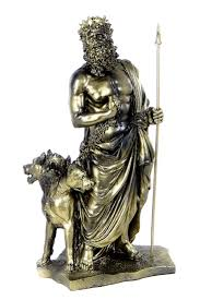 amazon com greek god of underworld hades with cerberus statue