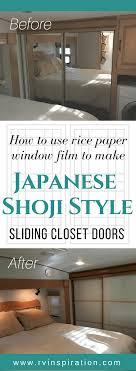 Shoji Sliding Closet Doors Diy Mirror Closet Makeover Idea How To Turn Sliding Doors Into