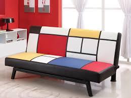 canapé couleur canapé clic clac en simili cantabria couleurs primaires
