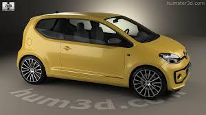 volkswagen up yellow 360 view of volkswagen up style 3 door 2017 3d model hum3d store