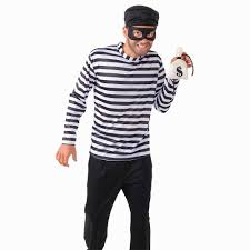 halloween costume robber mens burglar costume