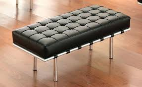 Leather Ottoman Bench Awesome Leather Ottoman Bench Taptotrip Me