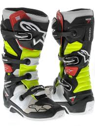 motocross boots size 7 alpinestars black red yellow tech 7 mx boot alpinestars