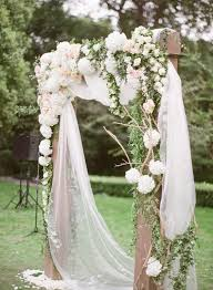 wedding arches using tulle 36 gorgeous wedding florals ideas to weddingomania