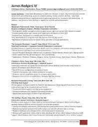 Sle Resume For Service Desk Rodgers Resume