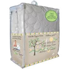 dreamtex my little nest pebbletex waterproof organic cotton crib