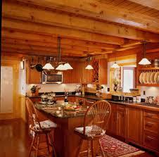 interior cozy picture of log cabin homes interior kitchen