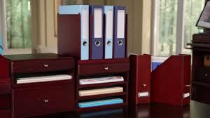 Wooden Desk Organizers Bindertek Wood Options Desktop Organizers