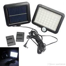 Solar Lights Outdoor Solar Power Led Garden Lawn Lights Outdoor Pir Human Sensor 56 Led