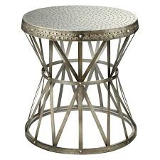 outdoor metal end tables amazon com southern enterprises bunching glass side end table