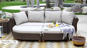 Curved Outdoor Sofa by Belham Living Polanco Curved Back All Weather Wicker Sofa