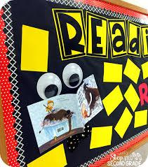 reading bulletin board step into 2nd grade