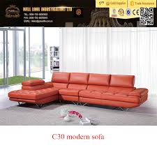orange leather sofa orange leather sofa suppliers and