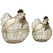 imax worldwide home decorative figurines elmore wire chickens