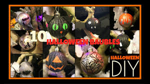 decorated halloween trees 10 diy halloween baubles spooky tree decoration craft youtube
