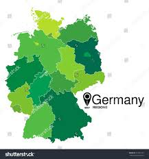 map of regions of germany regions map germany deutschland map stock vector 319225739