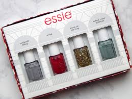 essie holiday mini nail color kit review and swatches u2014 chessie