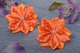 ribbon hair bands madeheart set of 2 handmade bright hair bands with satin ribbon