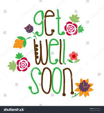 get well soon cards get well soon card stock vector 145372150