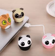 cute animal pet thumb sized bluetooth sound speakers with selfie