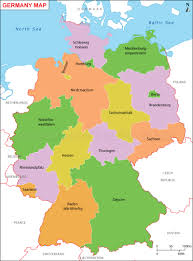 map of germany with states and capitals germany map deutschland karte of states new with and cities