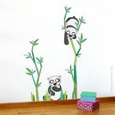 stickers panda chambre bébé sticker le goûter des pandas déco chambre bébé et enfant série golo