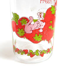 vintage glass canisters kitchen strawberry shortcake jar vintage kitchen canister with lid and