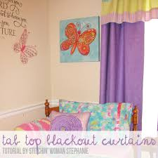 Diy Black Out Curtains Diy Simple Tab Top Blackout Curtains Totally Stitchin