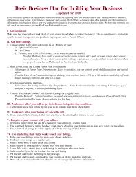 basic business plan template pdf business submit com