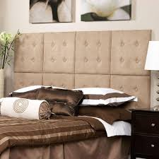 az home and gifts next luxe microsuede taupe queen headboard
