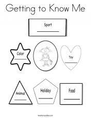 about me preschool lesson plan printable activity sheets