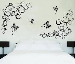online get cheap vine wall decals aliexpress com alibaba group butterfly vine flower wall decals living room bedroom home decor decorative removable pvc wall sticker
