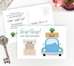 change of address cards personalized moving cards