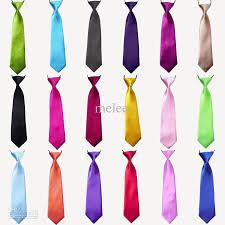 baby boy school wedding elastic neckties neck ties solid plain