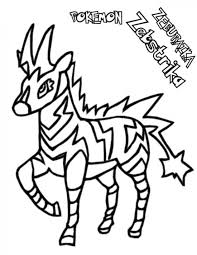 pokemon zebstrika coloring pages pokemon coloring pages