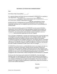 letter of recommendation template free download create fill