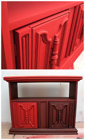 Red Lacquer Kitchen Cabinets Painting The Town Red W Annie Sloan Chalk Paint Spray Painting