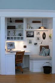 Five Small Home Office Ideas Computer Nook Nook And Homework - Closet home office design ideas