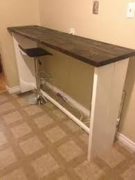 stand up bar table beetle kill spruce kitchen bar or stand up desk i recessed the back
