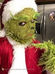 Baby Grinch Halloween Costume Step Step Process Achieved Grinch Makeup 1