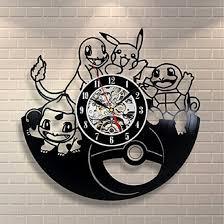 amazon com pokemon gift wall clock vinyl record art decor vintage