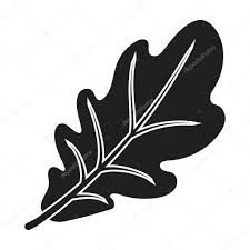 canadian thanksgiving pictures oak leaf icon in black style isolated on white background