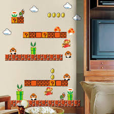 Boys Nursery Wall Decals Homeevolution Mario Build A Peel And