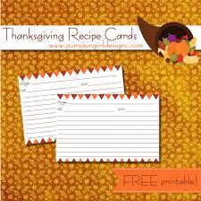 thanksgiving recipe cards pumpkingirl designs