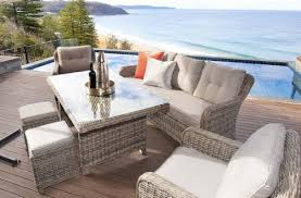 Patio Furniture Australia by Luxe Valencia Poly Wicker Outdoor Dining Setting Buy Outdoor