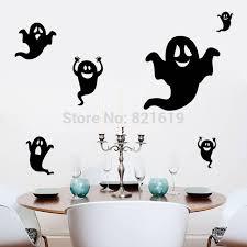 Halloween Room Decoration - creative halloween ghost wall sticker diy halloween room