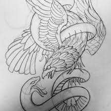 eagle snake tattoo design by thirteen7s on deviantart