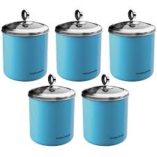 accents 1 7l large blue kitchen storage canister tea sugar coffee