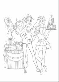 astonishing barbie swimming mermaid coloring pages with barbie